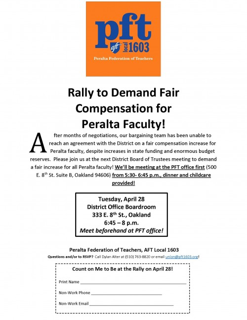 Rally to Demand Fair Compensation for